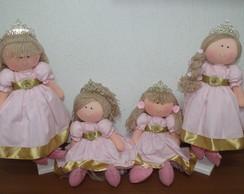 Bonecas rosa c/dourado