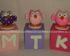 Cubinhos com letras Corujinhas