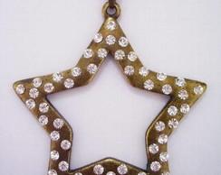 Pingente Estrela Dourada Envelhecida