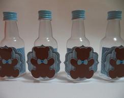 Garrafinha urso marrom e azul
