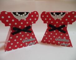 Caixa vestido Minnie