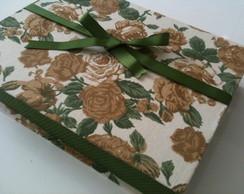 Caderno de mensagem com caixa