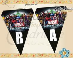 Bandeirolas Marvel Heroes