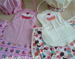 avental infantil + chap�u