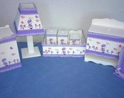 Kit higiene beb� em biscuit 8 pe�as