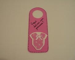 Lembrancinha Aviso de Porta Bebe