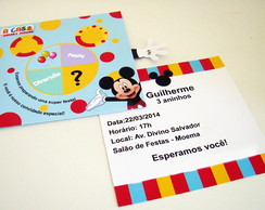 "Convite ""A casa do Mickey"""