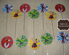 Topper para doces - Her�is