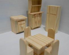 kit moveis miniaturas- cozinha 8 pe�as