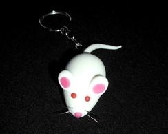 Chaveiro rato branco