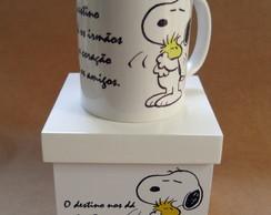 Caneca com caixa - Snoopy Frase