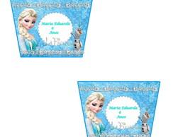 Rotulo para Balde de Pipoca Frozen