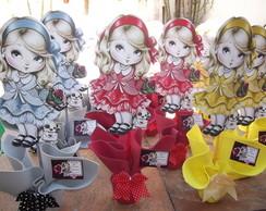 Centro de mesa boneca jolie com 20 pe�as