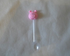 Mini colherzinha decorada de porquinho