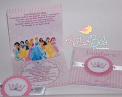 Convite Princesas Disney PopUp