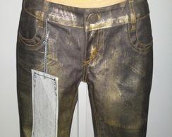 Cal�a dourada jeans