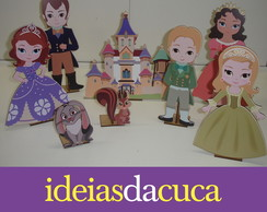 Princesa Sofia Display - 8 Pe�as em MDF