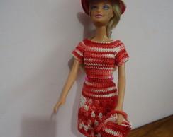 Roupa de Barbie - Vestido de Passeio