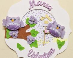 Enfeite porta maternidade corujas