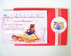 Convite Personalizado - Princesas