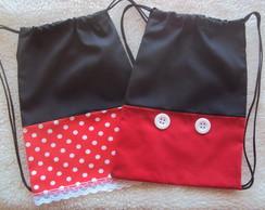 Lembrancinha mochilinha Mickey E Minnie