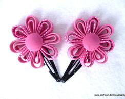 Par de Flores Po� com Pink