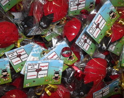 Chaveiro joaninha kit co 30 pe�as