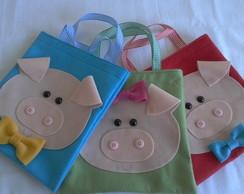 Mini sacola Tr�s Porquinhos