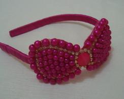 Tiara la�o p�rola pink