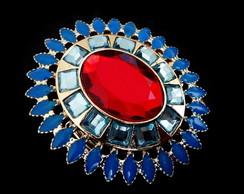 Maxi Anel Azul e Vermelho