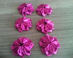 Flor de fita mimosa 8 petalas.