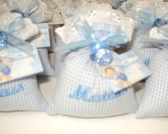 Lembrancinha sach� azul com chupeta