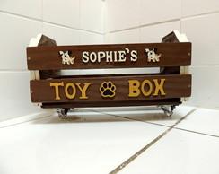 Caixa de Brinquedos Pet Personalizada!