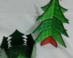 Kit Natal �rvore e Porta Panetone