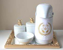 Kit Higiene Ursinho com Garrafa T�rmica