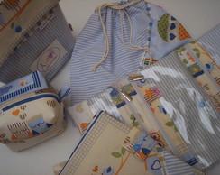 Kit infantil 5 p�s corujinha azul