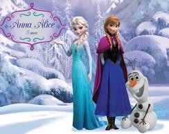 Painel Personalizado Digital Frozen Olaf