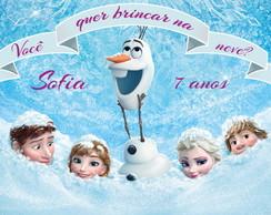 Frozen Painel Digital Personalizado NEVE