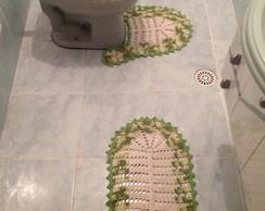Jogo de tapetes para banheiro