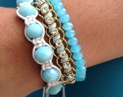 kit de pulseiras azul beb�
