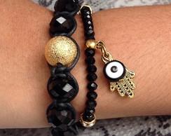 kit de pulseiras de olho grego