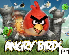 Painel Angry Birds - Festa Infantil