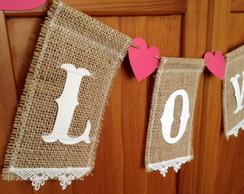 Varal R�stico Love
