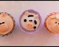 Cupcake Decorados com Pasta Americana
