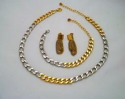 Conjunto Prata Dourado