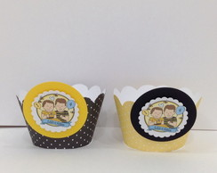 Kit WRAPPERS e TOPPERS para cupcake