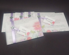 Convite personalizado com envelope