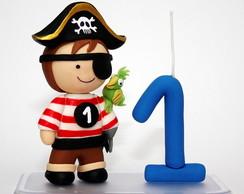 Topo de bolo pirata biscuit.
