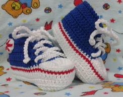 T�nis All Star Baby Azul Caneta