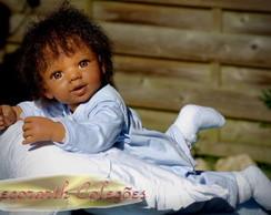 Beb� Reborn Afro Inteiro Vinil Silicone